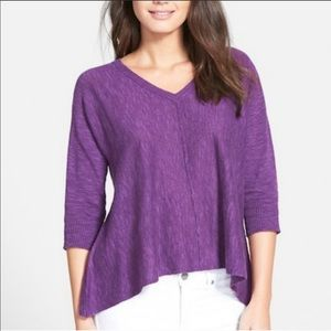 Eileen Fisher V-Neck Linen Sweater